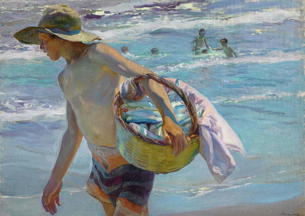 Wall Art - Painting - Young Fisherman, Valencia, 1904 by Joaquin Sorolla