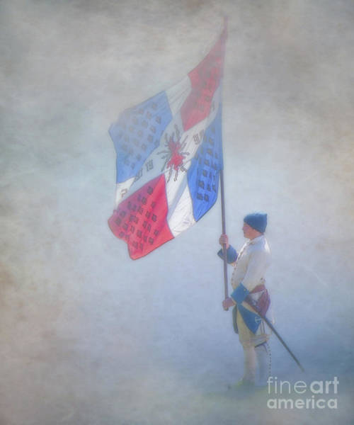 Wall Art - Digital Art - Young French Soldier With Flag by Randy Steele