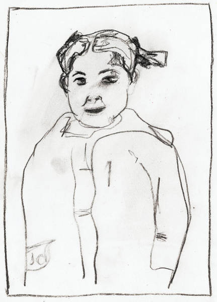 Drawing - Young Girl by Artist Dot