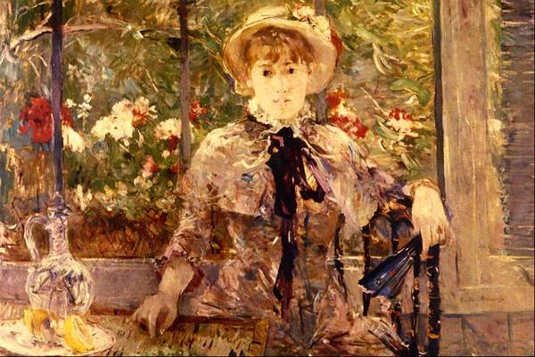 Wall Art - Painting - Young Girl In A Green House by Berthe Morisot