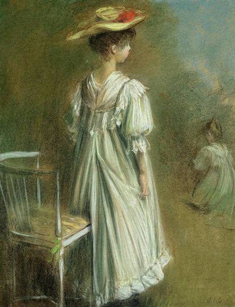 Wall Art - Painting - Young Girl In White by Jacques Emile Blanche