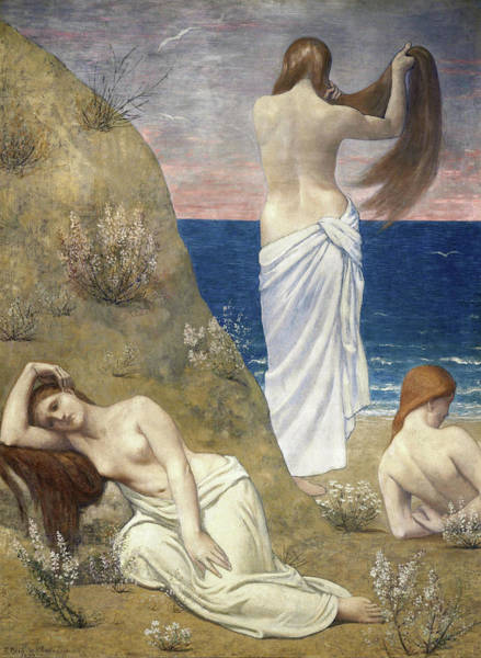 Wall Art - Painting - Young Girls By The Seaside - Digital Remastered Edition by Pierre Puvis de Chavannes