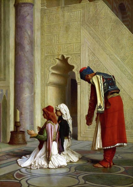 Wall Art - Painting - Young Greeks At The Mosque - Digital Remastered Edition by Jean-Leon Gerome