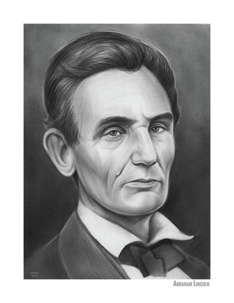 Wall Art - Drawing - Young Lincoln Lawyer by Greg Joens