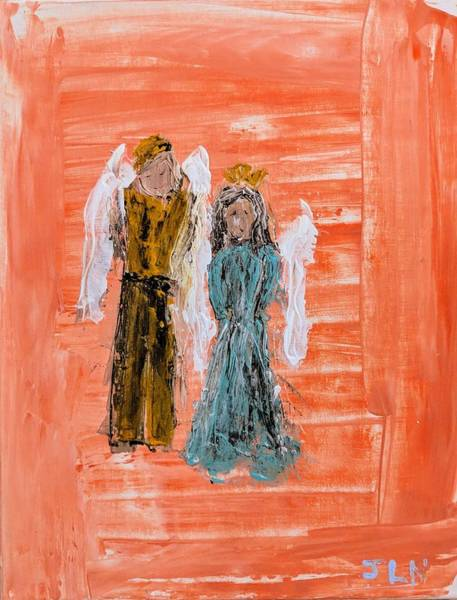 Painting - Young Love Angels by Jennifer Nease