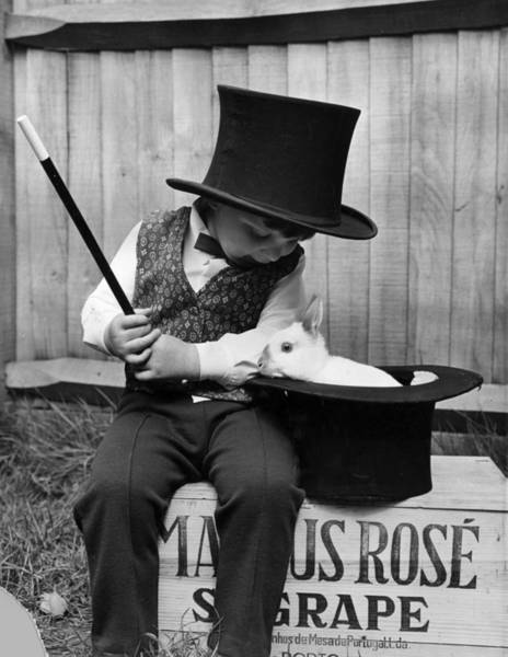 Top Hat Photograph - Young Magician by George Hales