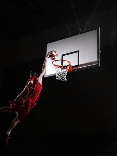Eye Ball Photograph - Young Man Attempting To Dunk The by Compassionate Eye Foundation/steve Coleman/ojo Images Ltd