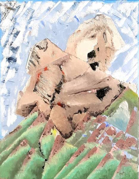 Painting - Young Man Of The Mountain by Dave Martsolf