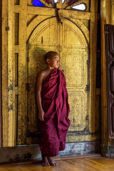 Wall Art - Photograph - Young Monk by Lindley Johnson