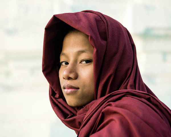 Adolescence Photograph - Young Novice Buddhist Monk by Martin Puddy