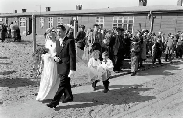 Wedding Bouquet Photograph - Young Refugee Couple Getting Married by Ralph Crane