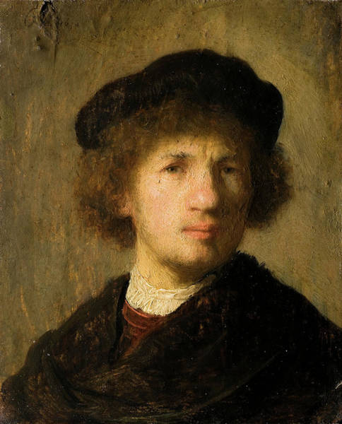 Painting - Young Self Portrait Of 1630 by Rembrandt