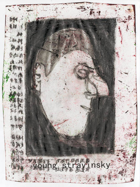 Mixed Media - Young Stravinsky by Artist Dot