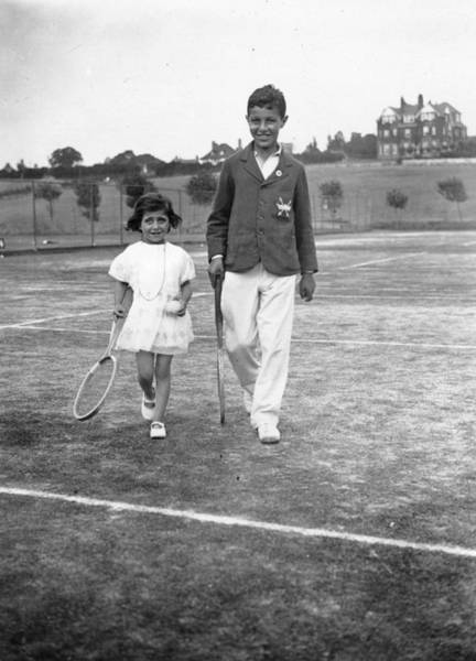 1923 Photograph - Young Tennis by W G Phillips