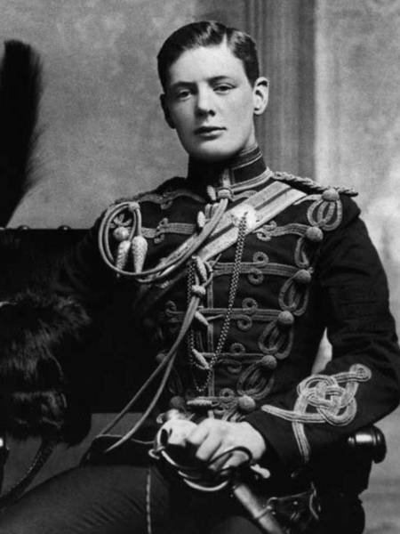 Wall Art - Painting - young Winston Churchill. 1895 by Celestial Images