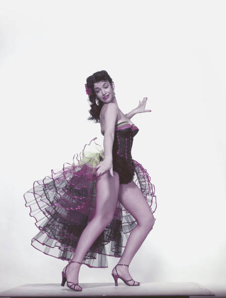 Content Photograph - Young Woman Dancing On White by Hultonarchive
