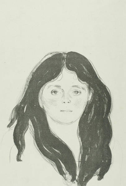 Wall Art - Relief - Young Woman From The Latin Quarter by Edvard Munch