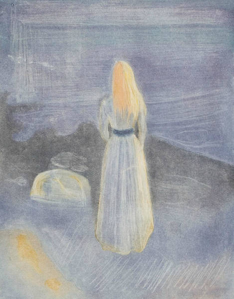 Wall Art - Relief - Young Woman On The Beach by Edvard Munch