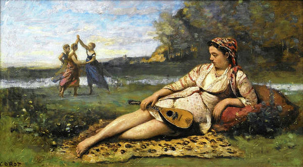 Wall Art - Painting - Young Women Of Sparta - Digital Remastered Edition by Jean-Baptiste Camille Corot