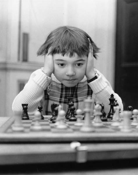Concentration Photograph - Youngest Champ by Douglas Miller