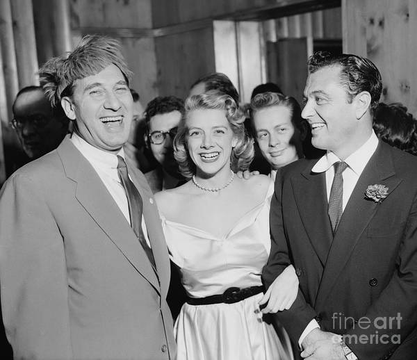 Wall Art - Photograph - Youngman, Clooney, & Martin On The Town by Cbs Photo Archive