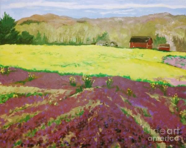 Mustard Field Painting - Youngs Lamium And Mustard by Kim Lucianovic