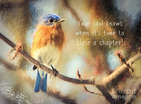 Bluebird Mixed Media - Your Soul Knows by Tina LeCour