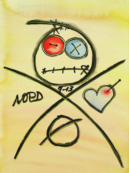 Voodoo Doll Painting - You're In Good Hands by Vonda Adomatis