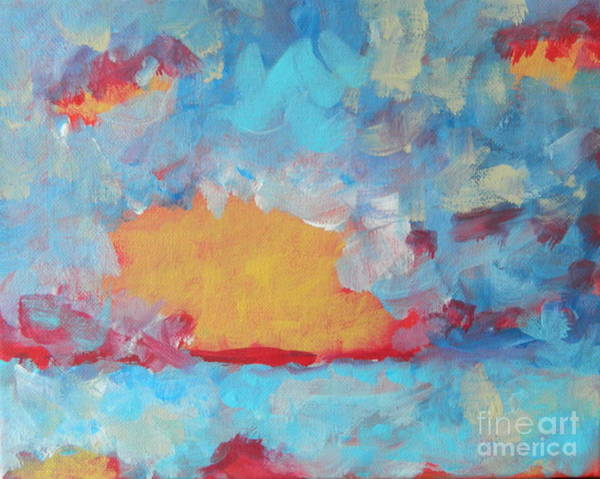 Wall Art - Painting - You're My Blue Sky by Kate Marion Lapierre