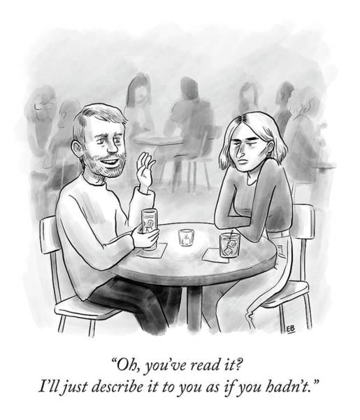 Bad News Drawing - You've Read It? by Emily Bernstein