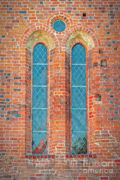 Wall Art - Photograph - Ystad Monastery Arched Windows by Antony McAulay