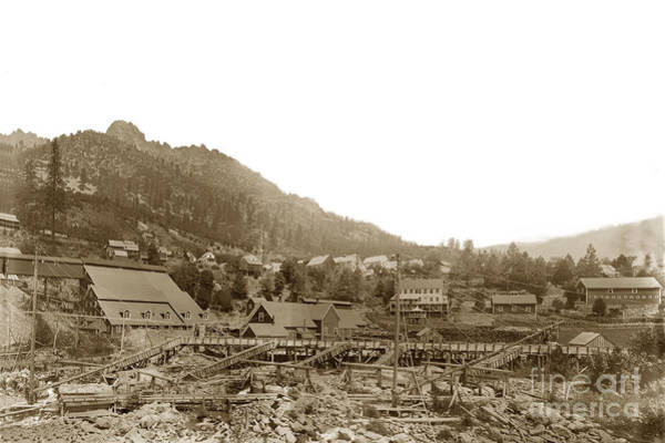 Photograph - Yuba Mill,  Chlorination Plant, Sierra Butttes Mill Located In Sierra 1890 by California Views Archives Mr Pat Hathaway Archives