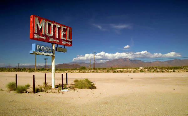 Arid Climate Wall Art - Photograph - Yucca, Deserted Sign Beside Empty Ground by Spencer Grant