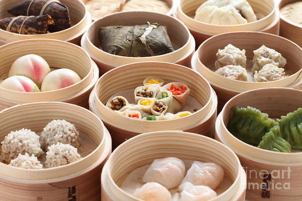 Wall Art - Photograph - Yumcha, Dim Sum In Bamboo Steamer by Bonchan