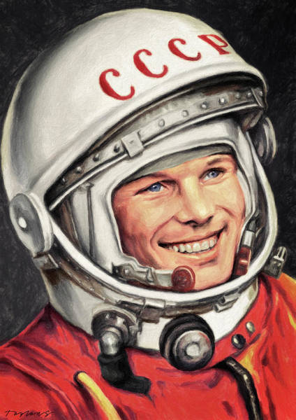 Wall Art - Painting - Yuri Gagarin by Zapista Zapista
