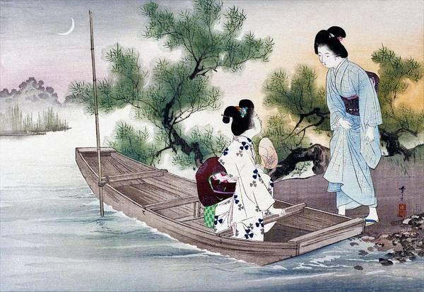 Wall Art - Painting - Yusuzumi - Top Quality Image Edition by Mizuno Toshikata