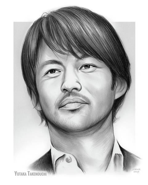 Wall Art - Drawing - Yutaka Takenouchi by Greg Joens