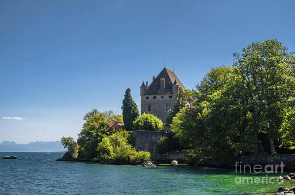 Wall Art - Photograph - Yvoire Castle by Michelle Meenawong