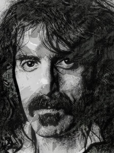 Frank Zappa Wall Art - Digital Art - Z A P P A by Daniel Hagerman
