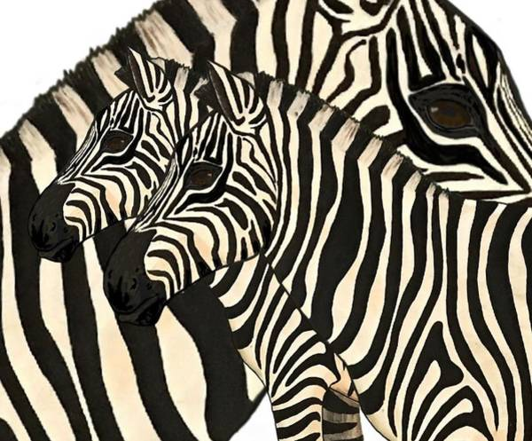 Painting - Z Is For Zebras by Joan Stratton