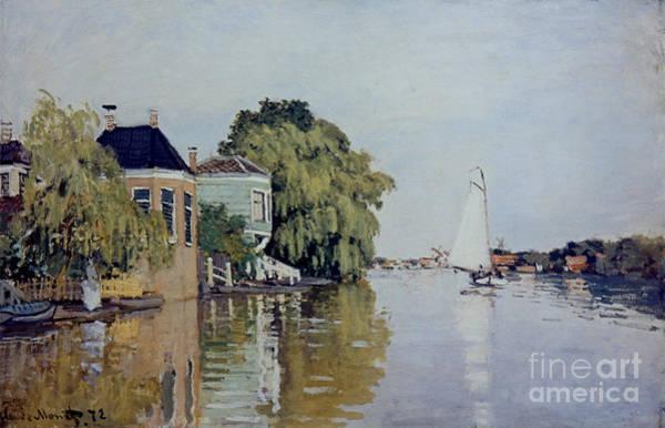 Painting -  Zaandam, 1872 by Claude Monet