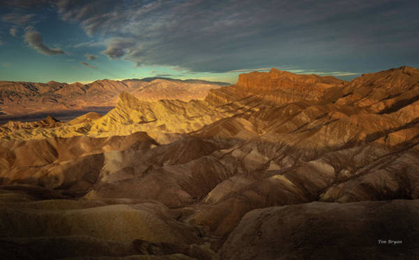 Photograph - Zabriske Point by Tim Bryan