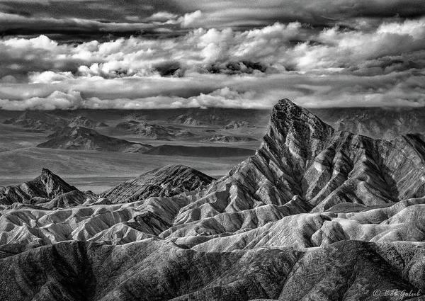 Death Valley Photograph - Zabriskie Point In Shades Of Gray by Robert Golub