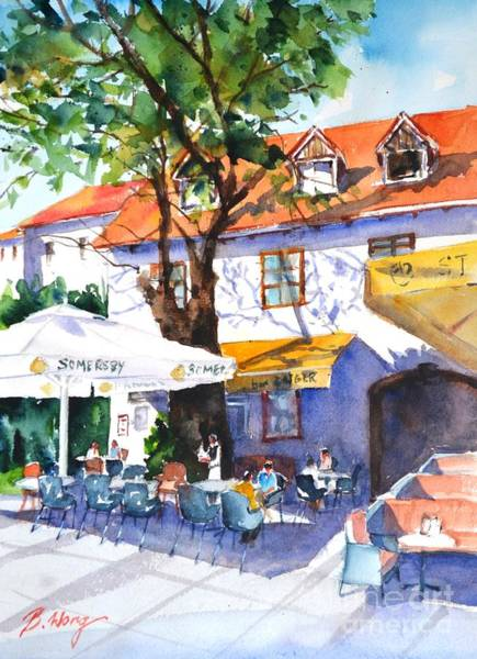 Painting - Zagreb Cafe #3 by Betty M M Wong