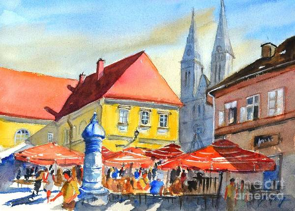 Painting - Zagreb Near Dolce Market by Betty M M Wong