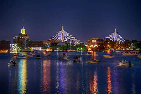 Photograph - Zakim Bridge And The Museum Of Science by Joann Vitali