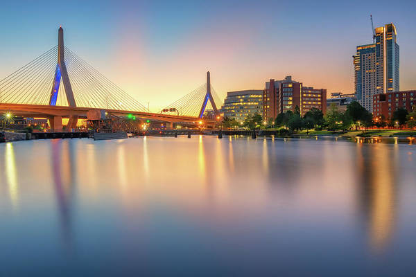 Photograph - Zakim Bridge At Dawn by Kristen Wilkinson