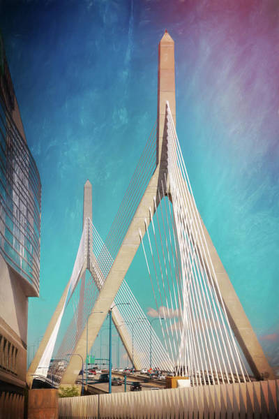 Wall Art - Photograph - Zakim Bridge Boston Massachusetts  by Carol Japp