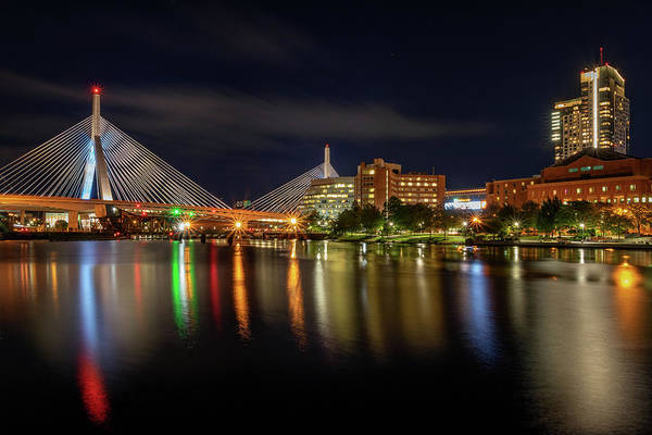 Photograph - Zakim Bridge Reflections by Kristen Wilkinson