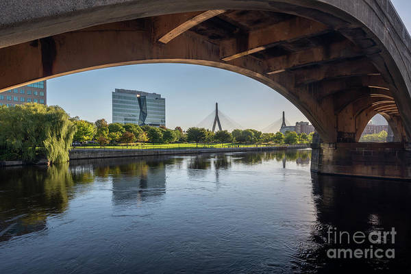 Photograph - Zakim From The Charles by Jesse MacDonald